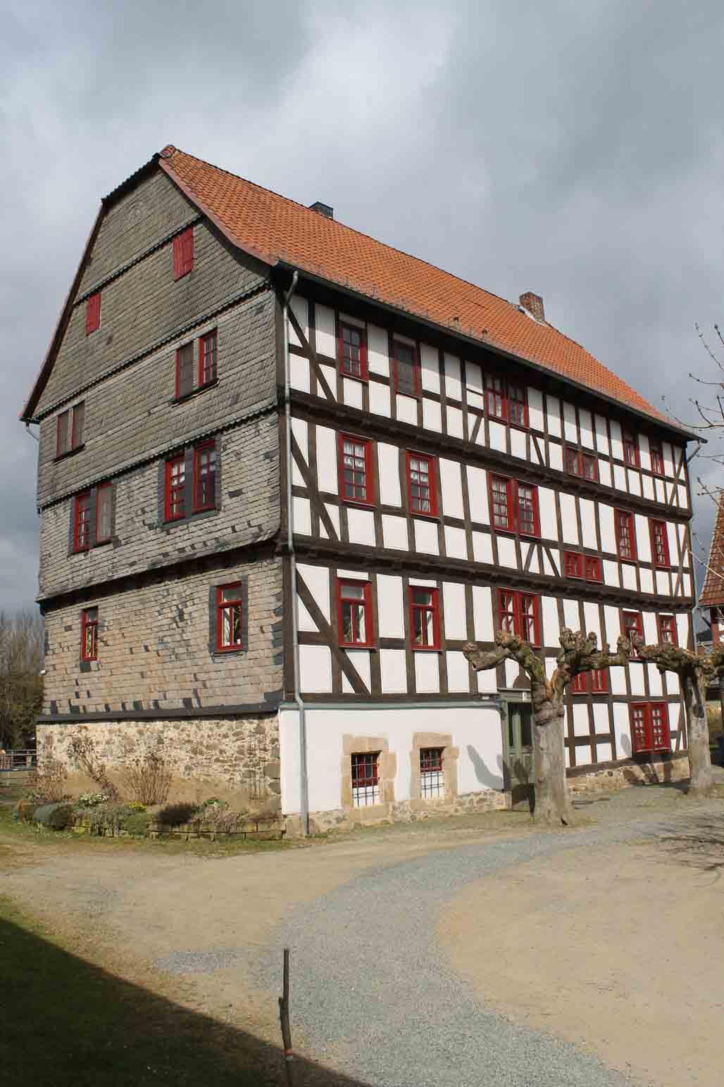 Das Herrenhaus auf dem Rittergut.